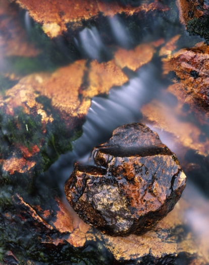 rock stream detail, french pyrenees