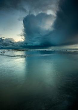 Passing Storm, Climbing Beach